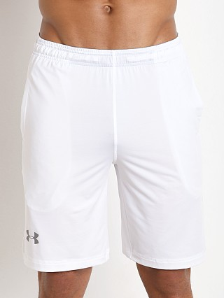 "Under Armour 10"" Pocketed Raid Short White"