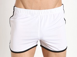 Tulio Slinky Retro Running Shorts White