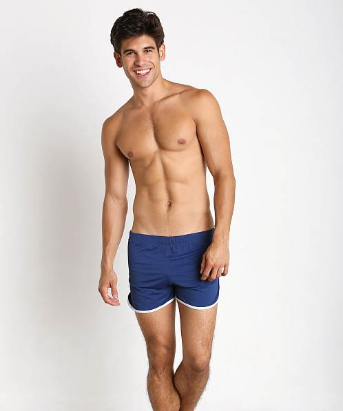 meet cf4f6 3c886 Tulio Slinky Retro Running Shorts Navy G423A at International Jock