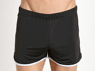 Tulio Slinky Retro Running Shorts Black