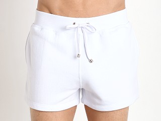 Tulio Pocketed Fleece Gym Shorts White