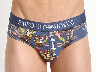 Emporio Armani Old School Tattoo Brief Aviation