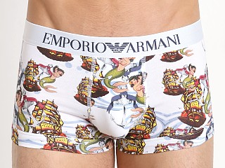 Emporio Armani Old School Tattoo Trunk White