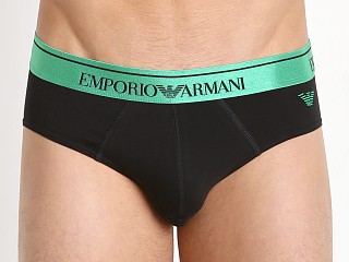 Emporio Armani Classic Shiny Logo Brief Black