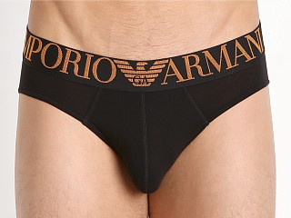 Emporio Armani Full Metal Shaded Eagle Brief Black