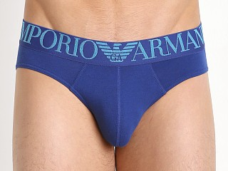 Emporio Armani Full Metal Shaded Eagle Brief Electric Blue
