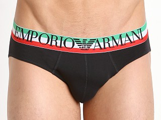 Emporio Armani Italian Logo Brief Black