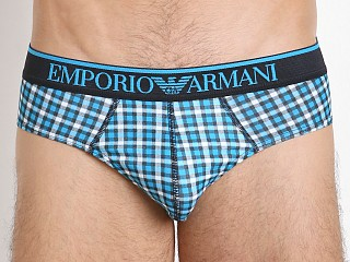 Emporio Armani Pattern Mix Brief Turquoise