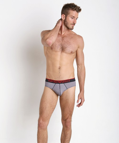 Emporio Armani Pattern Mix Brief Marine