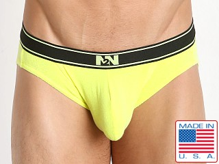 N2N Bodywear Neon Classic Brief Neon Yellow