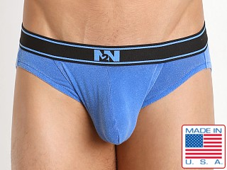 N2N Bodywear Stone Wash Classic Cotton Brief Pacific Blue
