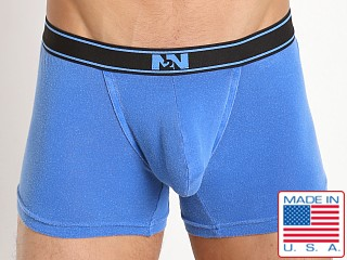 N2N Bodywear Stone Wash Classic Cotton Boxer Pacific Blue
