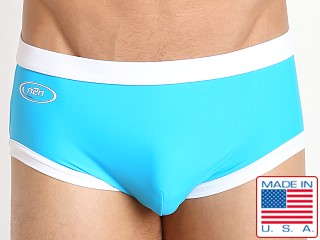 N2N Bodywear Starfire Swim Trunk Neon Blue