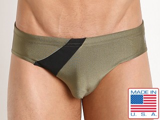 N2N Bodywear Eclipse Sport Swim Brief Olive