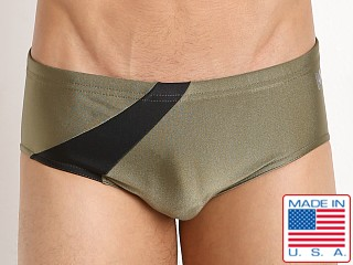 N2N Bodywear Eclipse Swim Trunk Olive