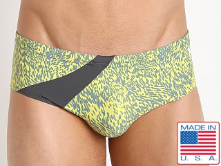 N2N Bodywear Stellar Swim Trunk Yellow/Grey