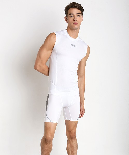 Under Armour Super Vent Mesh Compression Muscle Tee White