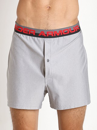 "Under Armour ""O"" Series Button Fly Boxer Short True Grey Heather"