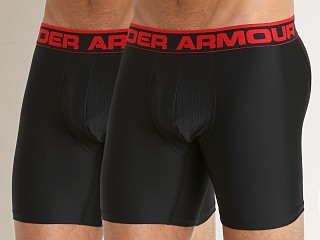 "Under Armour ""O"" Series 6"" Boxerjock 2 Pack Black/Black"