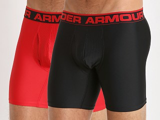 "Under Armour ""O"" Series 6"" Boxerjock 2 Pack Black/Red"