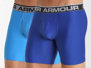 "Under Armour ""O"" Series 6"" Boxerjock 2 Pack Royal/Brilliant Blue"
