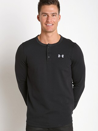 Under Armour Waffle Henley Longsleeve Shirt Black