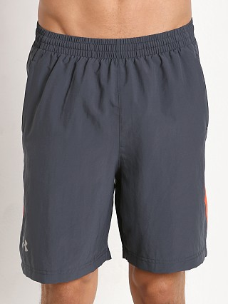 "Under Armour Launch 7"" Solid Short Stealth Grey/Bolt Orange"
