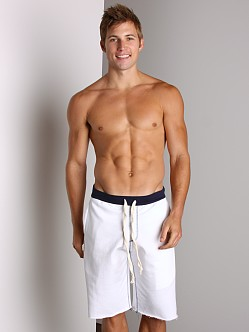 LASC Cotton Workout Shorts White