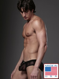 N2N Net Pouch Brief Black