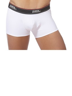Male Power Cotton Lycra Pouch Short White
