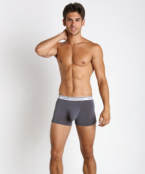 John Sievers Natural Pouch Boxer Briefs Steel Grey