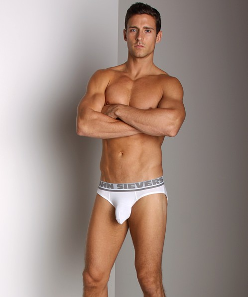 John Sievers Natural Pouch Low Rise Brief White