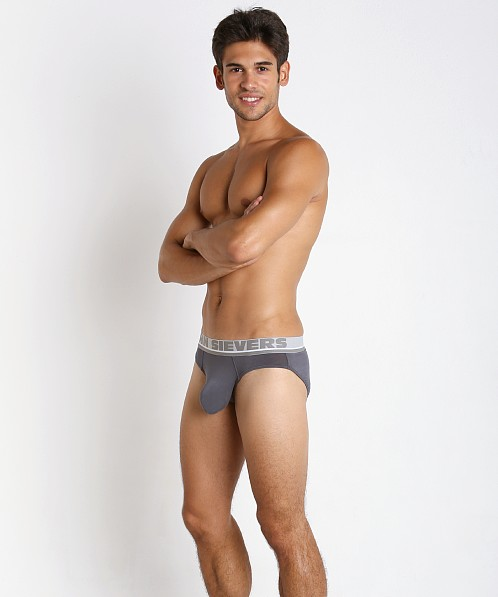 John Sievers Natural Pouch Low Rise Brief Steel Grey