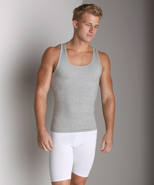 SPANX Cotton Compression Tank Top Grey