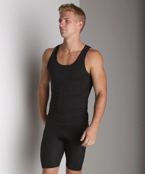 SPANX Cotton Compression Tank Top Black