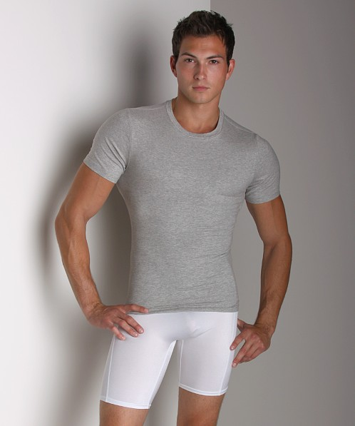 SPANX Cotton Compression Crew Shirt Grey