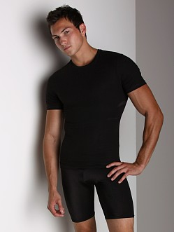 SPANX Cotton Compression Crew Shirt Black