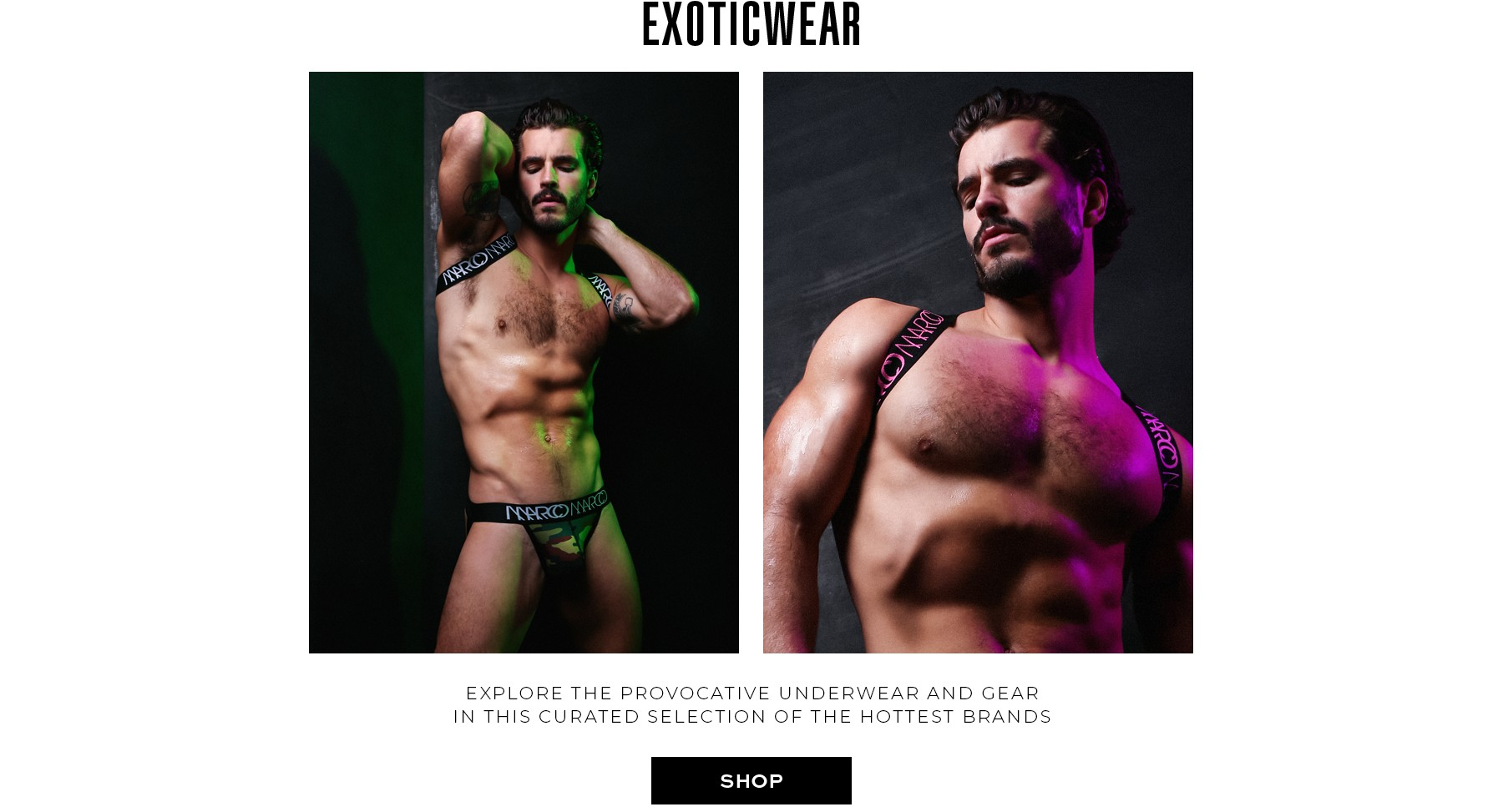 Provocative underwear and gear