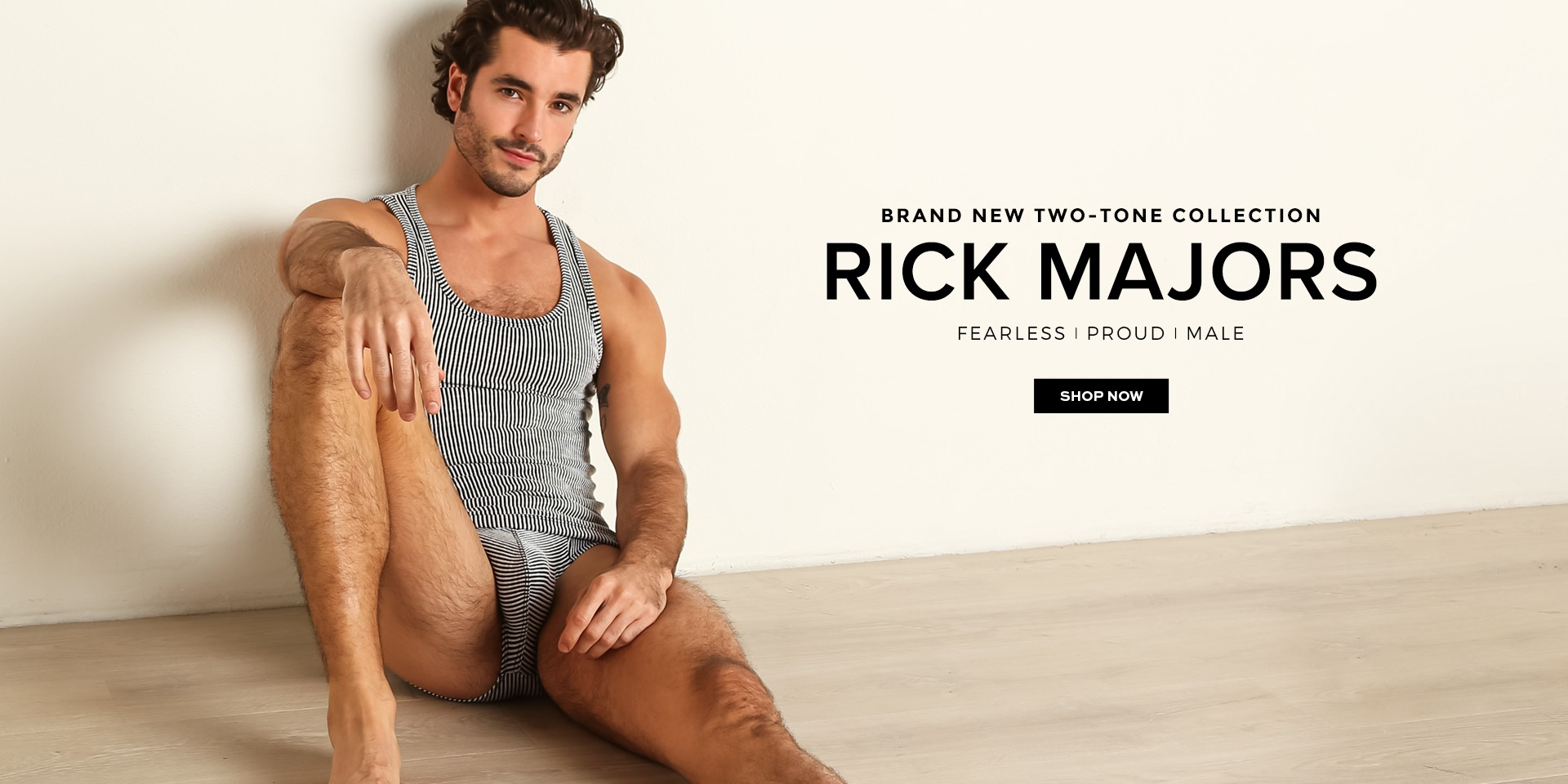 Male model in Rick Majors underwear