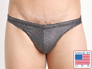 LASC St. Tropez Low Rise Swim Brief Silver Sparkle Stars