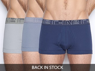 Model in flotilla navy/molten rock blue/grey matter C-IN2 Trunks 3-Pack Navy/Blue/Grey