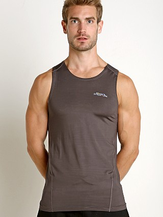 Private Structure BeFit Slinky Fitted Tank Top Dark Grey