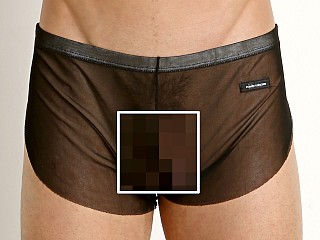 Model in black Private Structure Intima Mesh Nylon Boxer