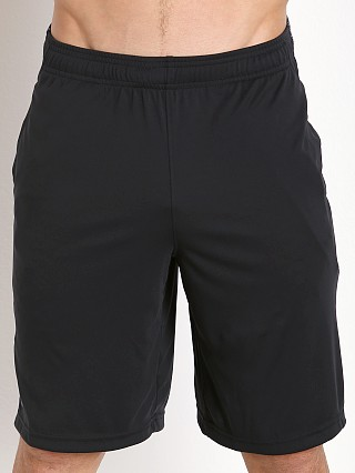 "Model in black/steel Under Armour 10"" Tech Graphic Short"