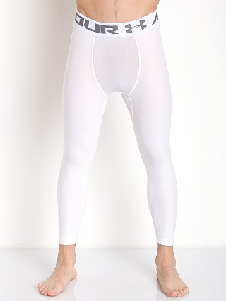 Model in white Under Armour Heatgear 2.0 3/4 Compression Legging
