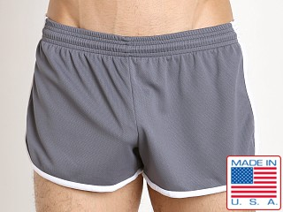 Pistol Pete Bolt Short Poly Dry Fit Gray/White