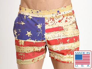 Pistol Pete Liberty Swim Short Flag Print