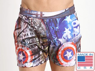 Pistol Pete Empire Swim Short NY America Print