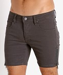 Nasty Pig Zipper Shorts Grey, view 3