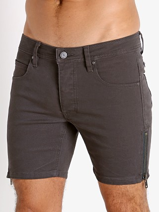 Model in grey Nasty Pig Zipper Shorts